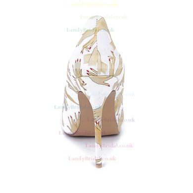 Women's Multi-color Leatherette Stiletto Heel Pumps #LDB03030667
