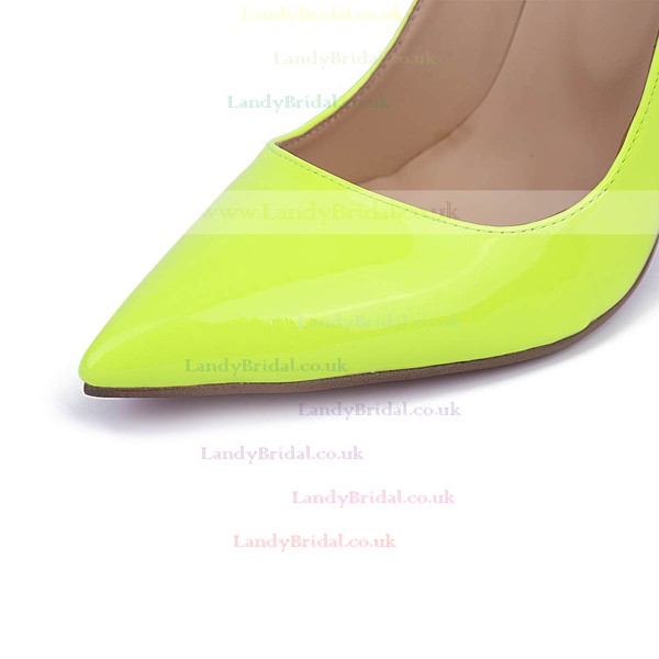Women's Grass Green Patent Leather Stiletto Heel Pumps