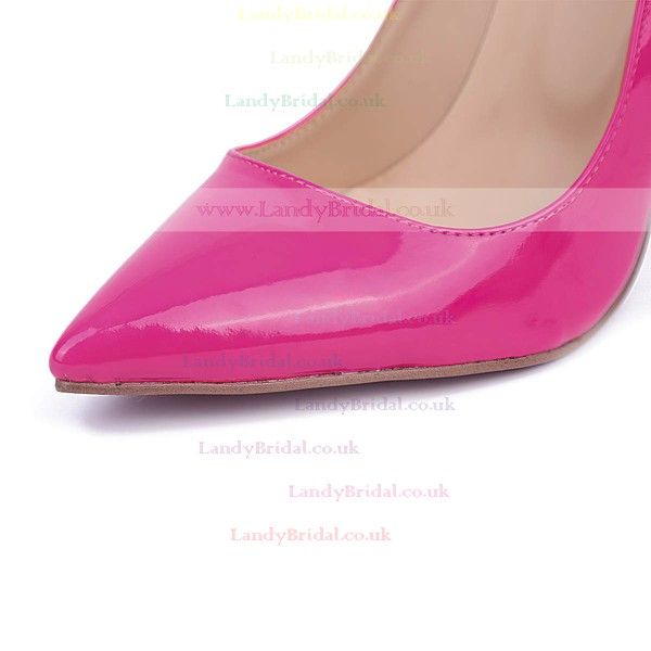 Women's Fuchsia Patent Leather Stiletto Heel Pumps