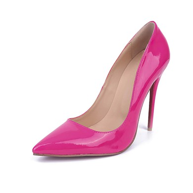 Women's Fuchsia Patent Leather Stiletto Heel Pumps #LDB03030671