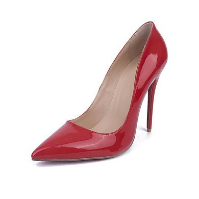 Women's Red Patent Leather Stiletto Heel Pumps #LDB03030672