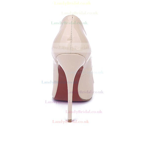 Women's Champagne Patent Leather Stiletto Heel Pumps
