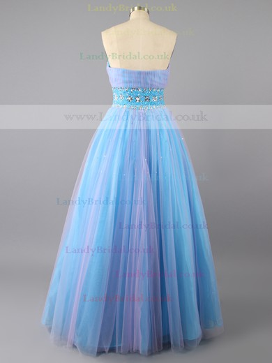 Ball Gown Organza Strapless Floor-length Beading Prom Dresses #LDB02071893