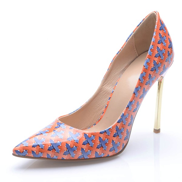 Women's Multi-color Leatherette Stiletto Heel Pumps