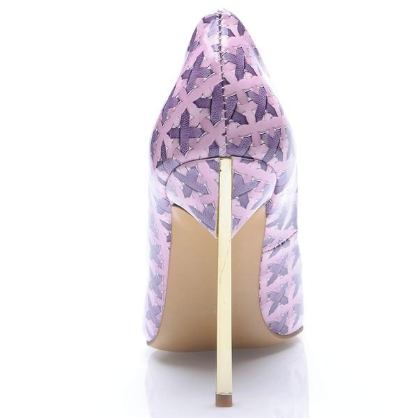 Women's Multi-color Leatherette Stiletto Heel Pumps