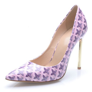Women's Multi-color Leatherette Stiletto Heel Pumps #LDB03030689