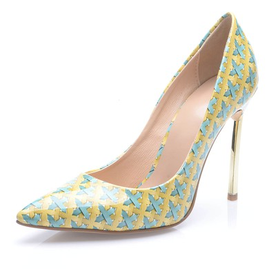 Women's Multi-color Leatherette Stiletto Heel Pumps #LDB03030690