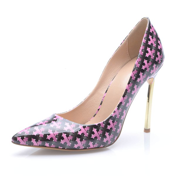 Women's Multi-color Leatherette Stiletto Heel Pumps #LDB03030691