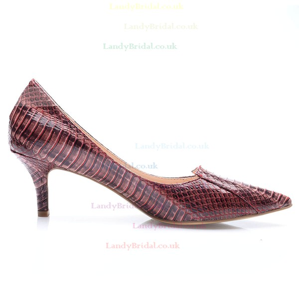 Women's Brown Patent Leather Stiletto Heel Pumps