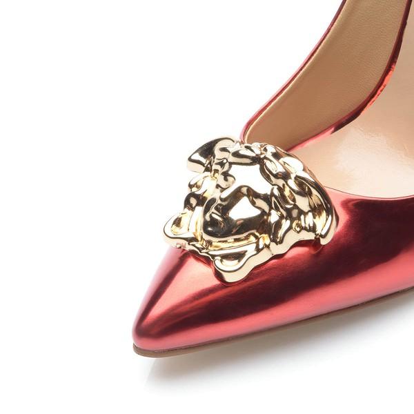 Women's Burgundy Patent Leather Stiletto Heel Pumps