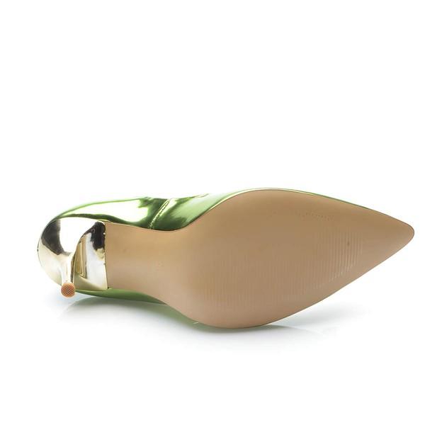 Women's Green Patent Leather Stiletto Heel Pumps