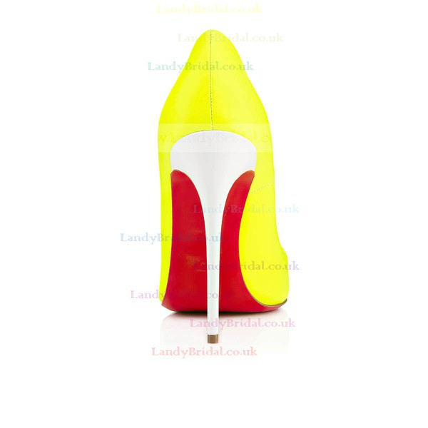 Women's Yellow Patent Leather Stiletto Heel Pumps