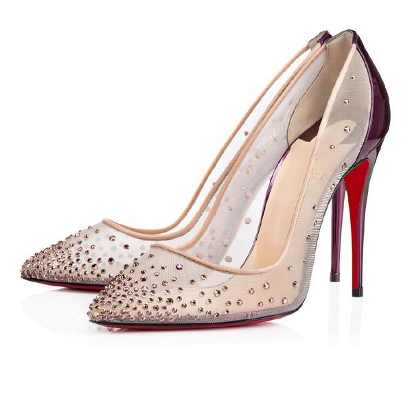 Women's Purple Patent Leather Stiletto Heel Pumps