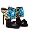 Women's Black Suede Stiletto Heel Pumps #LDB03030720