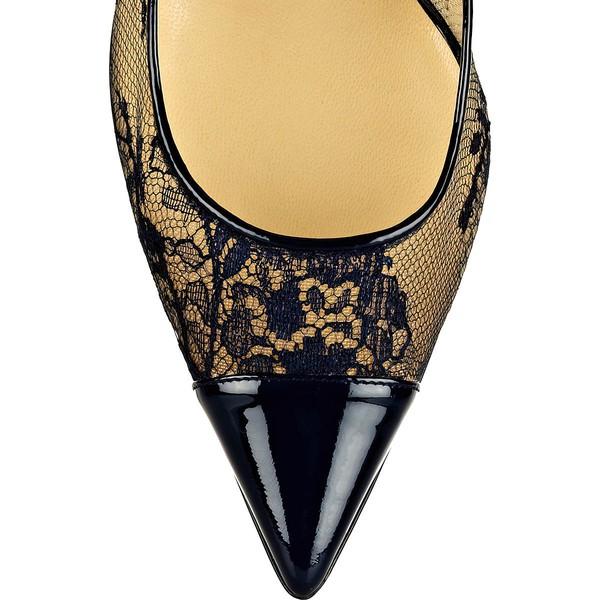 Women's Black Lace Stiletto Heel Pumps