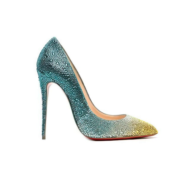 Women's Multi-color Real Leather Stiletto Heel Pumps #LDB03030737
