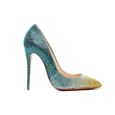Women's Multi-color Real Leather Stiletto Heel Pumps #LDB03030737