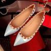 Women's Blue Patent Leather Flat Heel Flats #LDB03030748