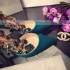 Women's Green Satin Stiletto Heel Pumps #LDB03030751