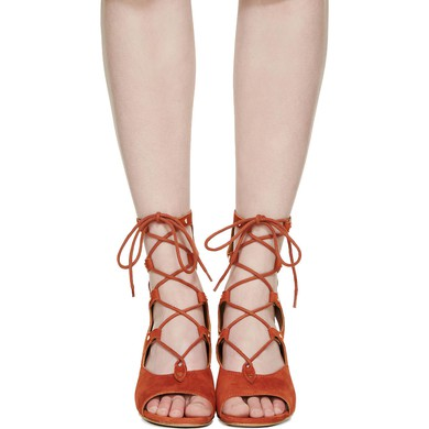 Women's Brown Suede Wedge Heel Sandals #LDB03030768