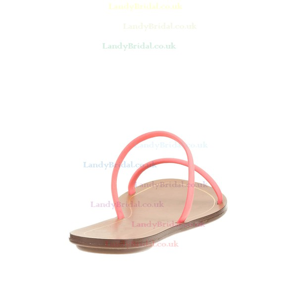 Women's Pink Real Leather Flat Heel Flats