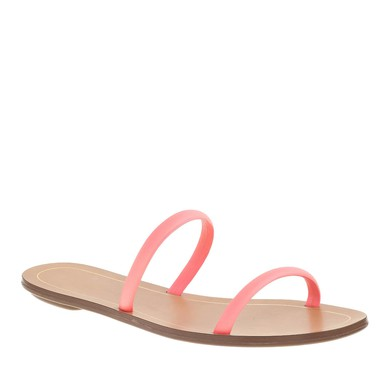 Women's Pink Real Leather Flat Heel Flats #LDB03030800