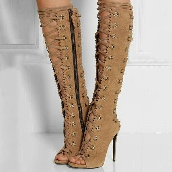 Women's Brown Suede Stiletto Heel Pumps