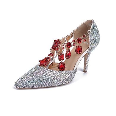 Women's Multi-color Real Leather Stiletto Heel Pumps #LDB03030834