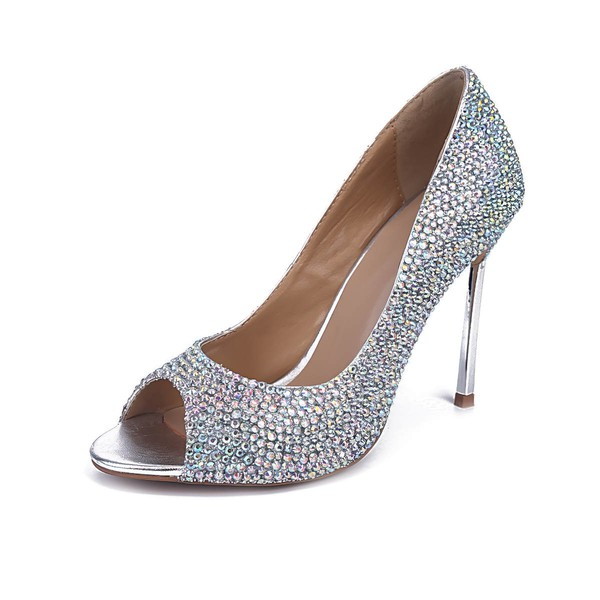 Women's Multi-color Real Leather Stiletto Heel Pumps #LDB03030838