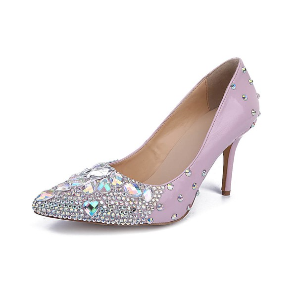 Women's Multi-color Patent Leather Stiletto Heel Pumps