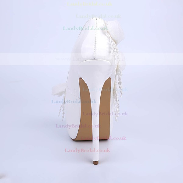 Women's White Patent Leather Stiletto Heel Pumps #LDB03030853