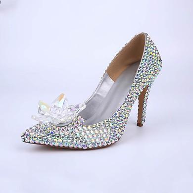 Women's Multi-color Patent Leather Stiletto Heel Pumps #LDB03030859