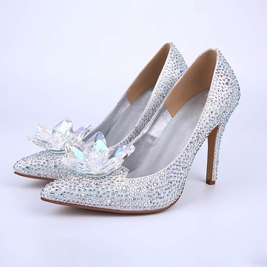 Women's Multi-color Sparkling Glitter Stiletto Heel Pumps #LDB03030860