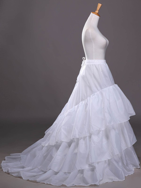 Satin Chapel Train 3 Tiers Petticoats #LDB03130022