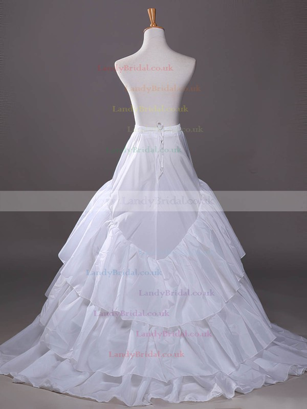 Satin Chapel Train 3 Tiers Petticoats