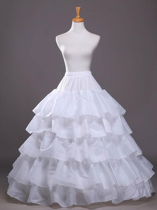 Satin A-Line Slip 4 Tiers Petticoats