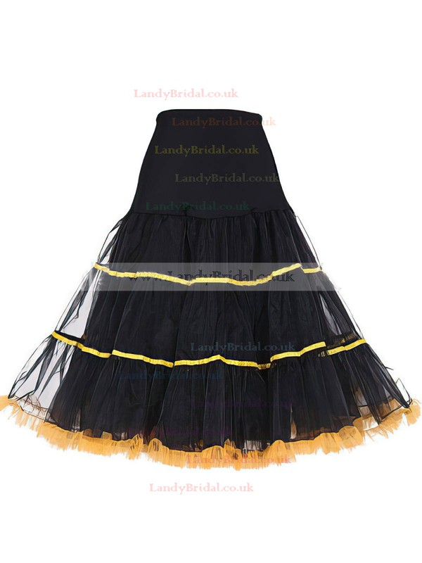 Tulle Netting A-Line Slip 4 Tiers Petticoats