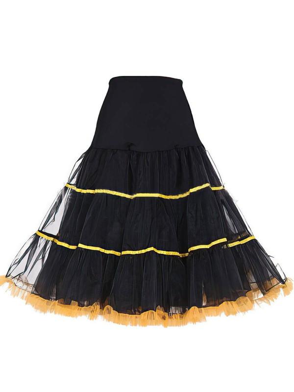 Tulle Netting A-Line Slip 4 Tiers Petticoats #LDB03130030