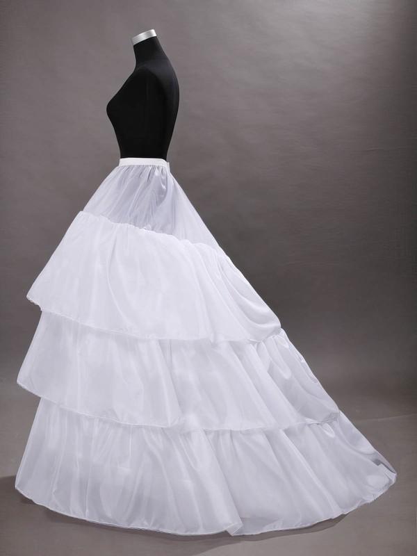 Nylon/Taffeta Ball Gown Slip 3 Tiers Petticoats #LDB03130033
