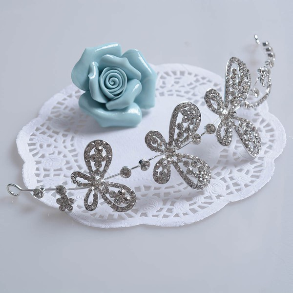 White Alloy Headbands #LDB03020045