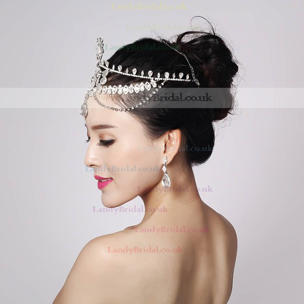 White Alloy Forehead Jewelry