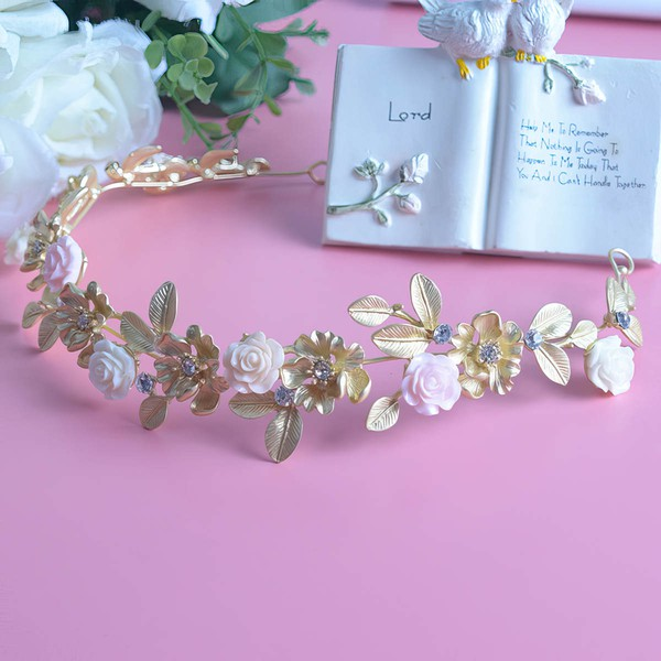 Light Gold Alloy Headbands #LDB03020049
