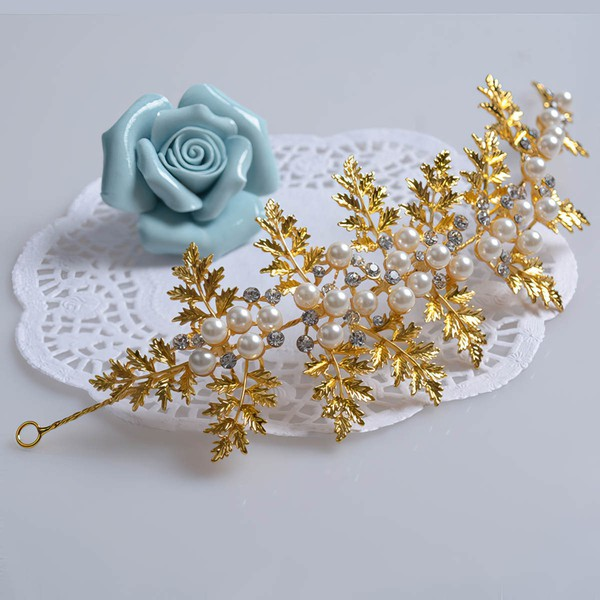 Gold Alloy Headbands #LDB03020053