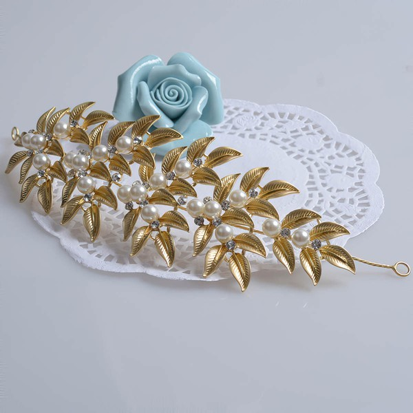 Light Gold Alloy Headbands #LDB03020054