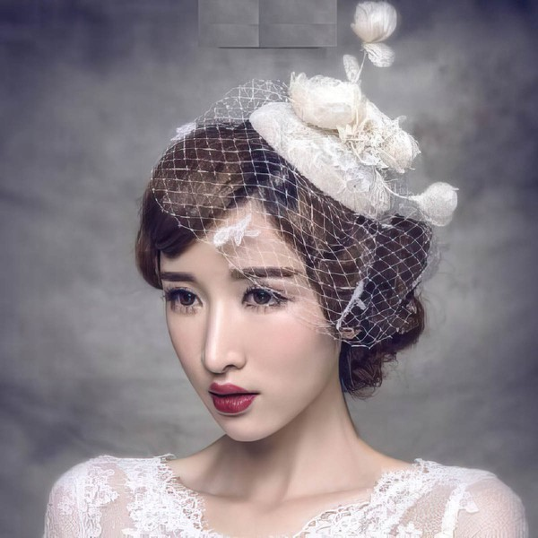 Ivory Lace Fascinators #LDB03020057
