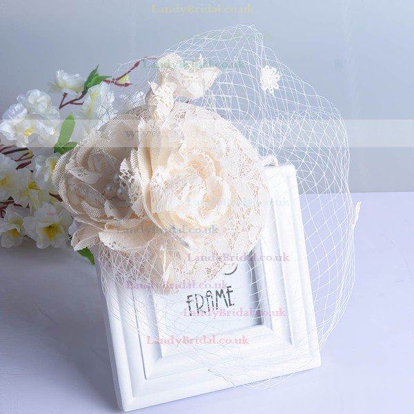 Ivory Lace Fascinators