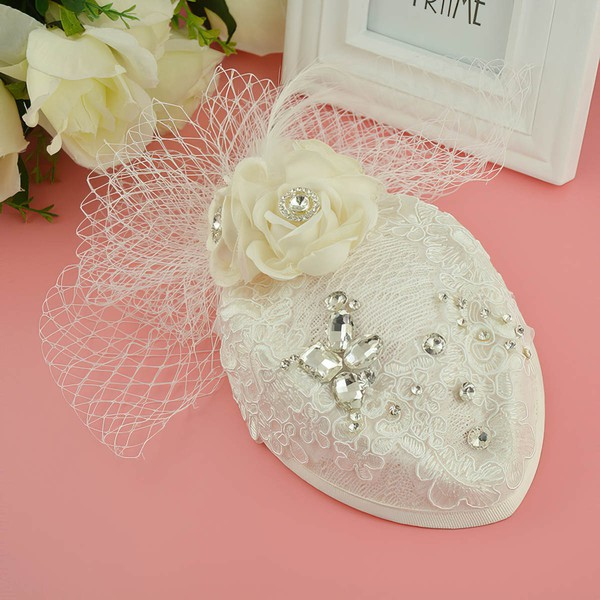 Ivory Crystal Flowers & Feathers #LDB03020077
