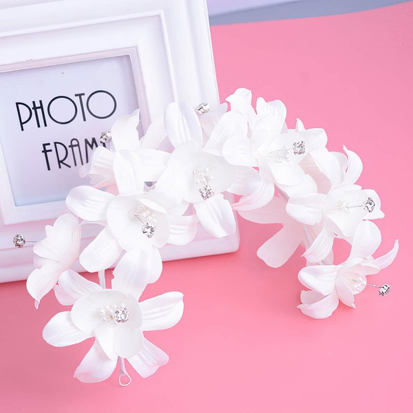 White Crystal Headbands