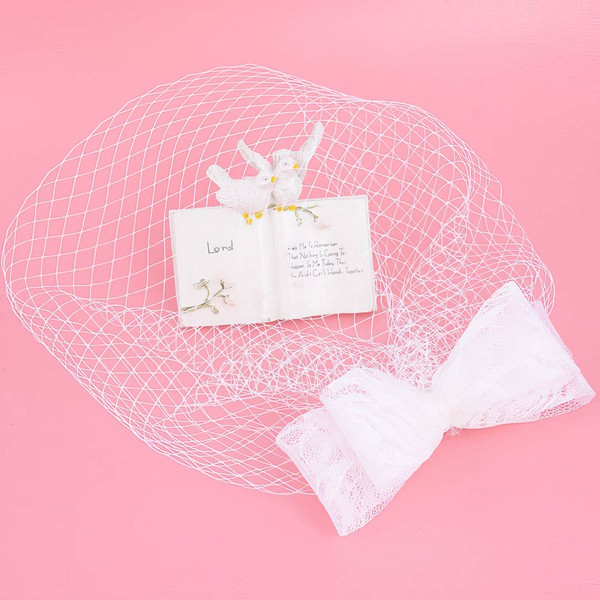 White Lace Fascinators