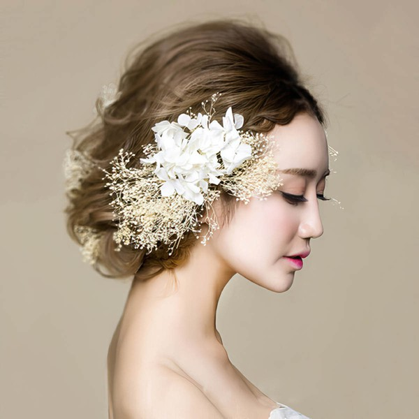 Ivory Silk Flower Flowers & Feathers #LDB03020087